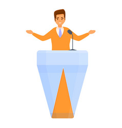Election vote agitation speaker icon cartoon vector