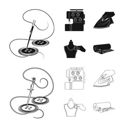 electric sewing machine iron for ironing marking vector image