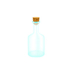 empty bottle with cork vector image