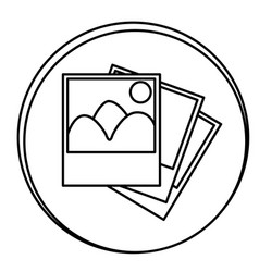 figure pictures emblem icon vector image