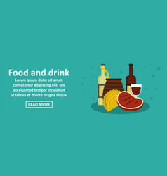 Food and drinks argentina banner horizontal vector