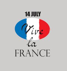 french nacional day flag france vector image