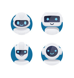 future chat bot set vector image