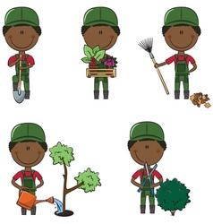 gardeners vector image