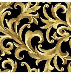 gold plants vector image vector image
