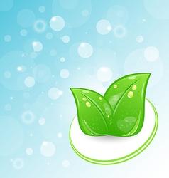 Green Leaves Ecologic Emblem vector