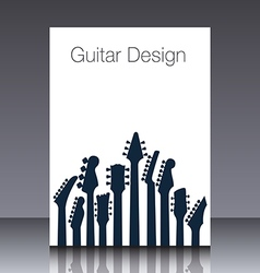 Guitar headstock Cover vector image