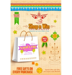 Happy Navratri Offer promotions vector image
