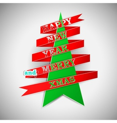 Happy New Year and Merry XMas vector image