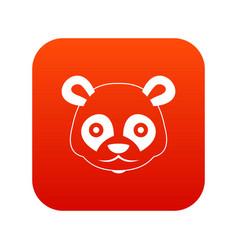 Head of panda icon digital red vector