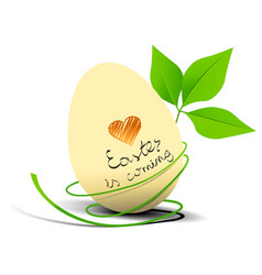 i love easter holiday background vector image