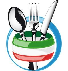 Italian cutlery vector