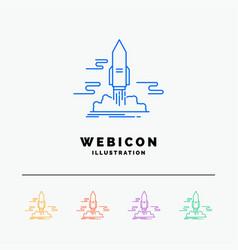 launch publish app shuttle space 5 color line web vector image