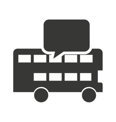 london bus with learning icon vector image