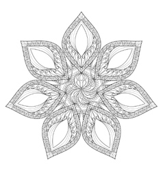 Mandala Hand drawn zentangle mandala vector image