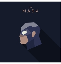 Mask hero flat style abstraction graphics vector image vector image