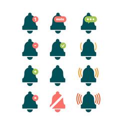 message bell sound reminder symbols phone ring vector image