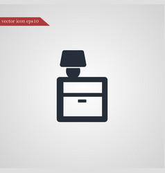 Nightstand icon simple vector