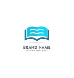 open book abstract logo vector image
