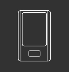 Outlined mp3 player vector