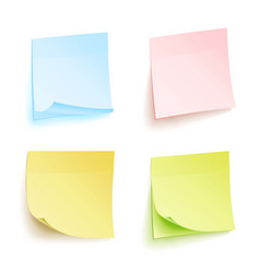 Paper work notes isolated set sticky note vector