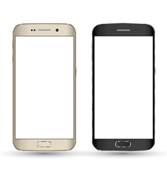 Perfectly detailed new smartphones vector