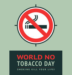 poster world no tobacco day vector image