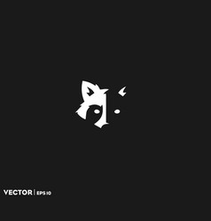 Raccoon shadow face vector