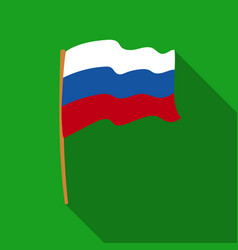 russian flag icon in flat style isolated on white vector image