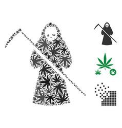 Scytheman mosaic of marijuana vector