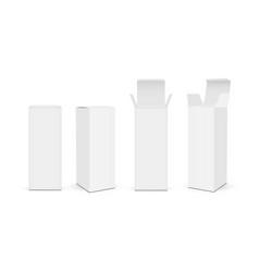 set high paper rectangular packaging boxes vector image