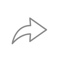 Share sign line icon forward message arrow vector