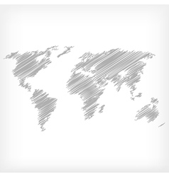 Sketch of world map vector image