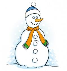 snowman illustration vector image