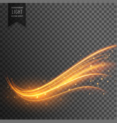stylish transparent light effect in wavy shape vector image