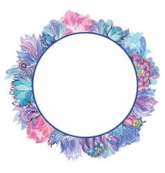 sweet floral frame vector image