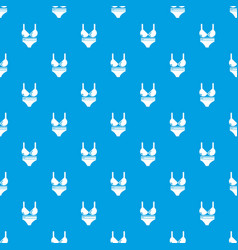 Swimsuit pattern seamless blue vector