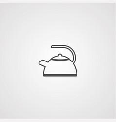 teapot icon sign symbol vector image