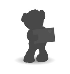 teddy bear and love letter vector image