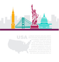 template leaflets with a map and architectural vector image