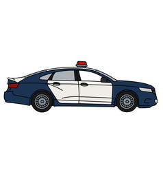 The big police car vector