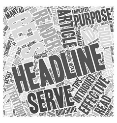 Tips for writing effective headlines Word Cloud vector