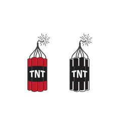tnt bomb icon design vector image