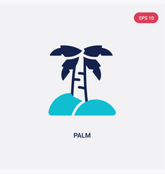 two color palm icon from desert concept isolated vector image