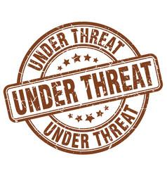 under threat stamp vector image