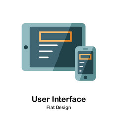 user interface flat icon vector image