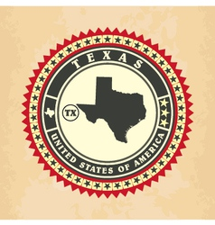Vintage label-sticker cards of Texas vector image