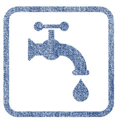 water tap fabric textured icon vector image