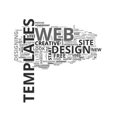 Web design templates to jump start your vector