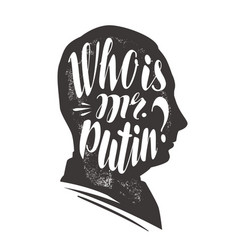 Who is mr putin president russian federation vector
